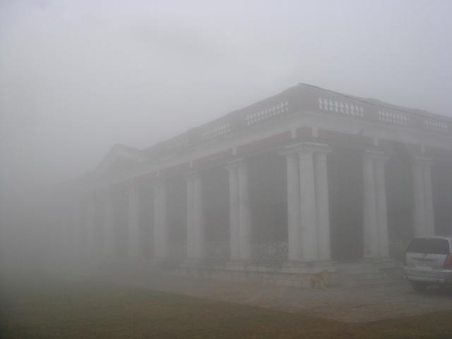 A misty winter morning